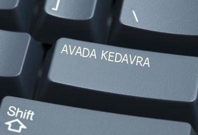 For extreme computer meltdowns: the avada kedavra button.