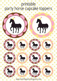 MeinLilaPark – DIY printables and downloads: Free printable party horse kit - ausdruckbare Pferde Geschenkpapiere - freebie