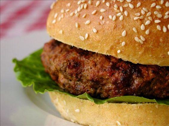 Buffalo Sauce Burgers Stuffed With Blue Cheese