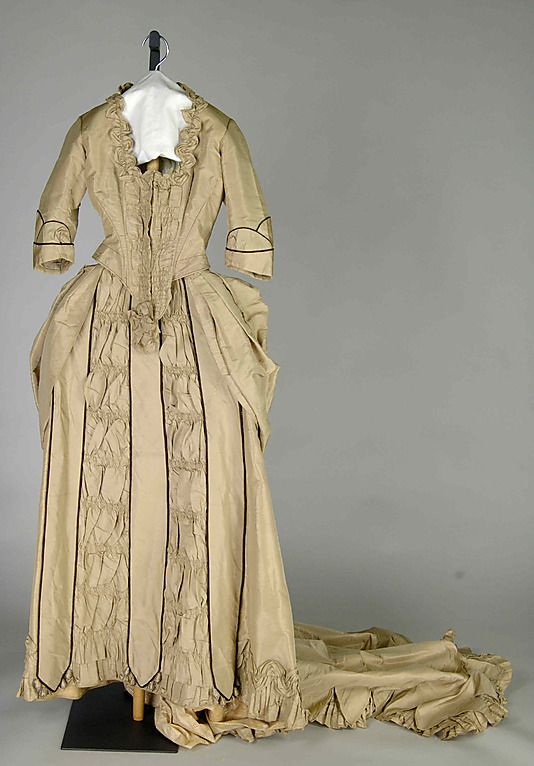 Wedding Dress - American   c.1875  -  The Metropolitan Museum Of Art
