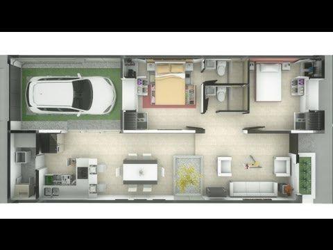 Casa de un piso 83m interiores minimalista 7m x 15m for Pisos interiores minimalistas