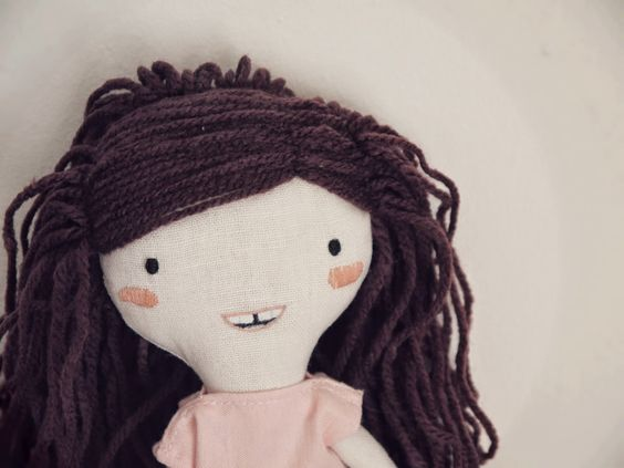 customized - personalized  handmade rag doll by ploudoll on etsy (30€)