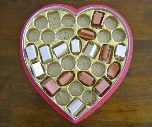 Fill a Valentine box with thank you notes for your spouse.  I look forward to eating the chocolates!  Cute idea