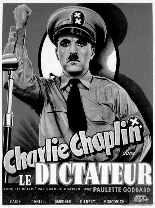 """""""Le dictateur """" Charli Chaplin 1940"""