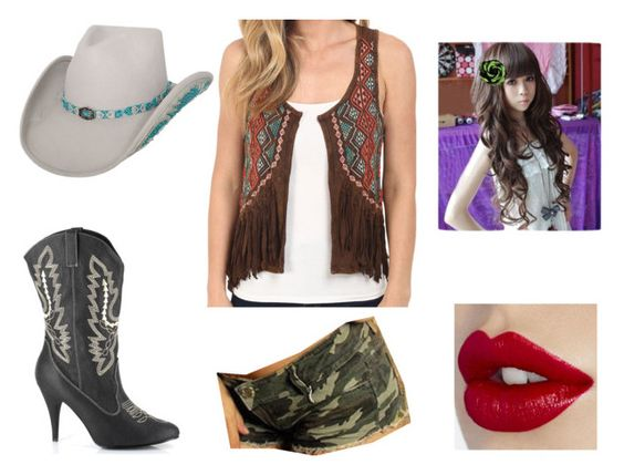 """untitled #15"" by sarahmullen-yugioh ❤ liked on Polyvore featuring beauty, Ellie and Rock & Roll Cowgirl"
