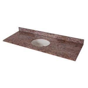 Stone Vanity Bowls : Stone Effects Vanity Top in Santa Cecilia with White Bowl Vanities ...