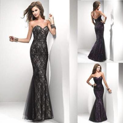 Slinky black lace dress