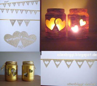 alles biggi!: Hochzeits-DIY Windlichter und Karte
