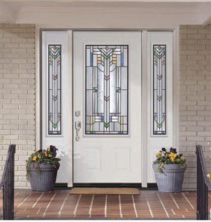 Front door with sidelights steel doors entry doors - Exterior french doors with sidelights ...