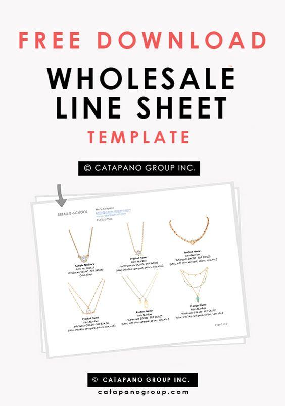 How To Create A Wholesale Line Sheet | Una linea, Al dettaglio e ...