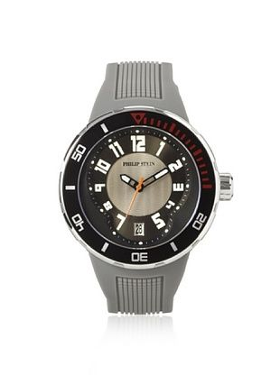 54% OFF Philip Stein Men's 34-BGR-RGR Extreme Grey Rubber Watch