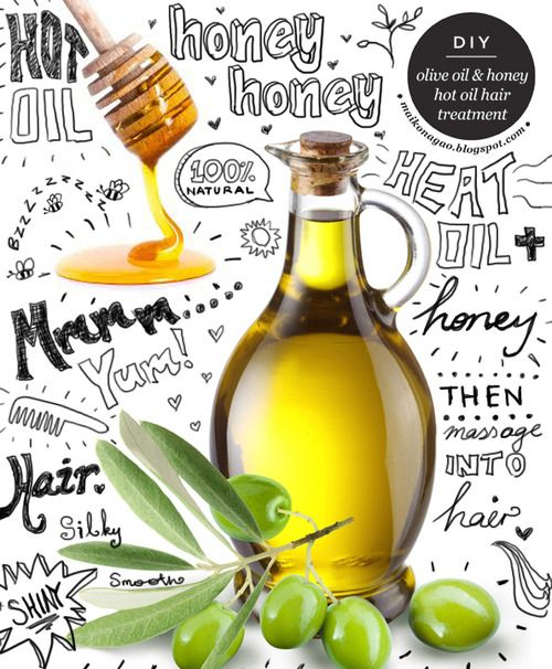 DIY 2 Ingredient Hot Olive Oil and Honey Hair Treatment Recipe from Maiko Nagao here. Tired of complicated special ingredient beauty recipes (I am)? You probably have olive oil and honey in your kitchen.