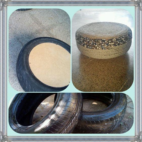 Reutilización de pneumáticos!