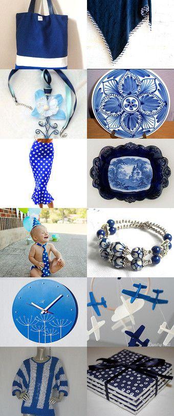 Blue and White by Liliana Gioielliartigianali on Etsy--Pinned with TreasuryPin.com
