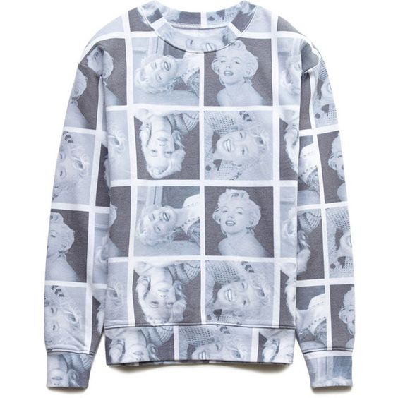 Forever 21 Women's  Marilyn Monroe Sweatshirt (20 AUD) ❤ liked on Polyvore featuring tops, hoodies, sweatshirts, t o p s, shirts, sweaters, lightweight sweatshirts, graphic shirts, graphic tops and forever 21 sweatshirt