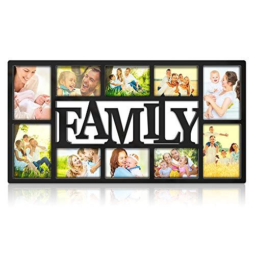 Nex Family Picture Frame Collage Wall Hanging 10 Openings Four 5x7 And Six 4x6 Photos Pla Family Picture Frame Collage Frame Wall Collage Family Picture Frames