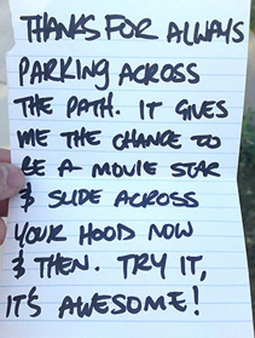 The top 10 funniest car windscreen notes.