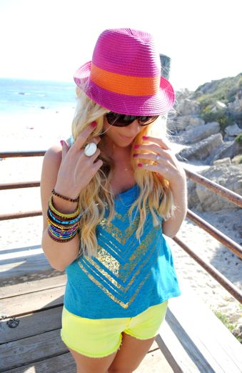 Cute Outfit Idea for a Beach BBQ. LC knows about these things. #Summer