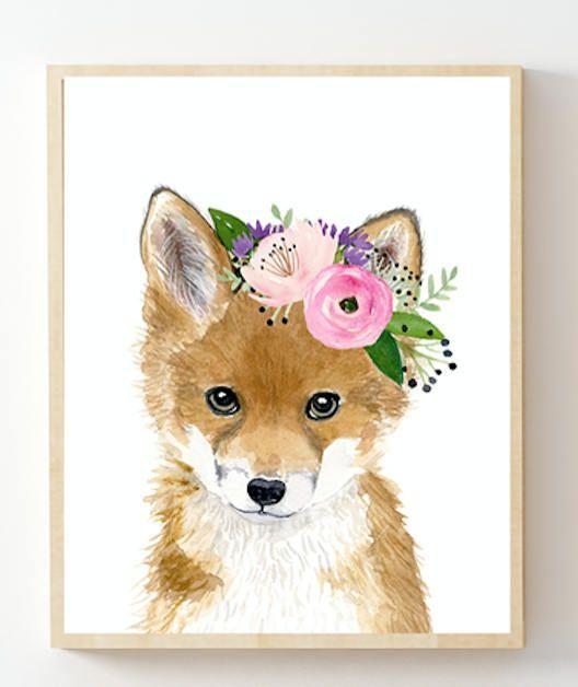 Woodland Nursery Print Set Forest Nursery Decor Girl Nursery Etsy Animal Nursery Art Baby Animal Prints Woodland Nursery Art