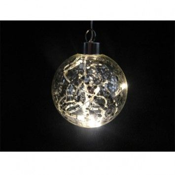 Bola de cristal decorativa con luz led color transparente - Iluminacion original ...
