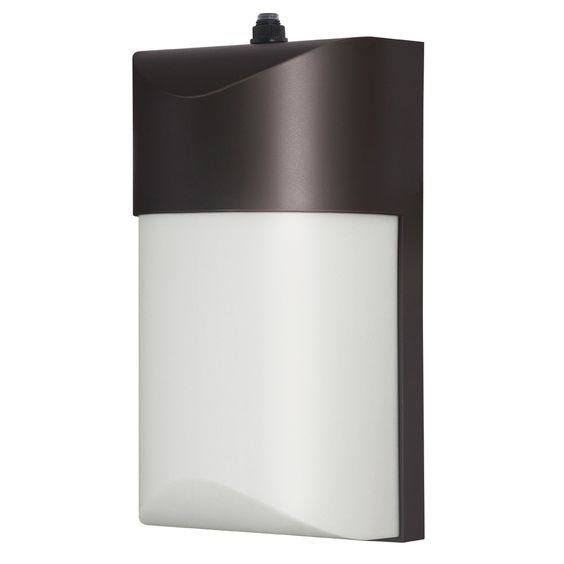 Dusk To Dawn Light At Lowes: Utilitech Pro 12.24-Watt Bronze LED Dusk-To-Dawn Security