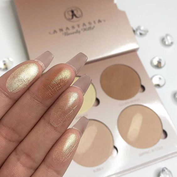 """""""That Glow"""" kit from ABH. I love this. It give me a subtle glow on low key days and an outer space glow when I layer it on and want that YASSSS highlight. Well worth the 40 bucks."""