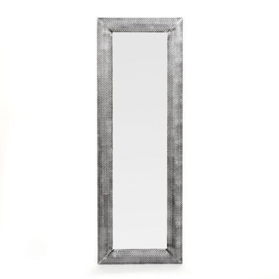 miroir 30x120cm peint la main argent pinto les. Black Bedroom Furniture Sets. Home Design Ideas