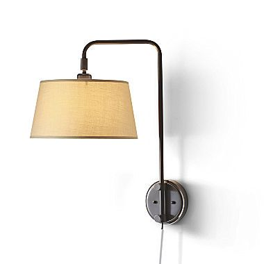 JCPenney Home™ Adjustable Bridge Wall Lamp - Wouldn't this be perfect over a bedside table? #EvaHomeJCP #jcpHome #sponsored