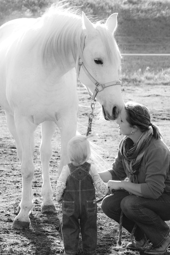 A girl and her horse. True love.
