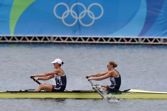 Team GB rowers Helen Glover and Heather Stanning at Rio 2016