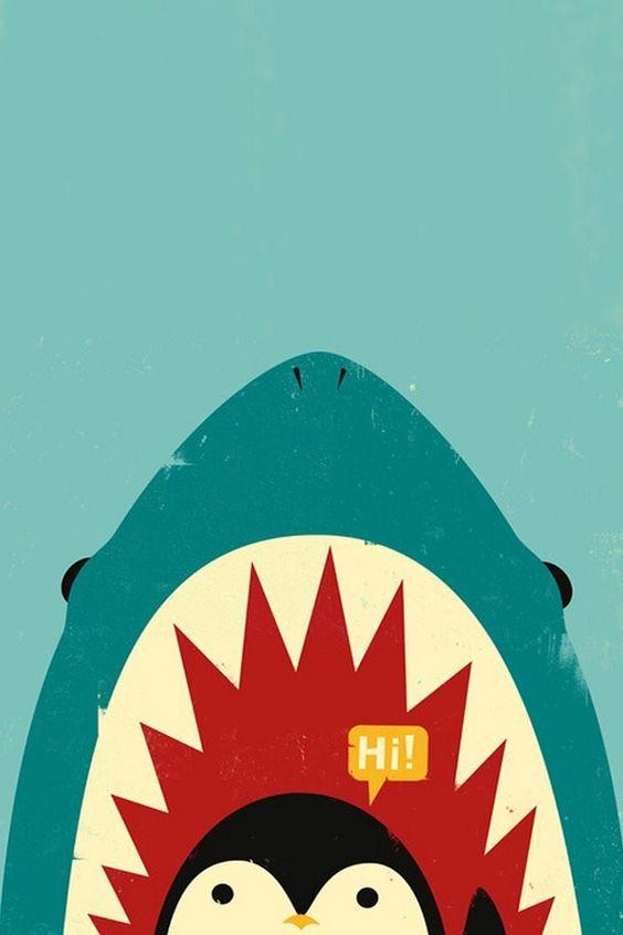 Penguin in Danger #funny iPhone wallpaper - @mobile9 ...