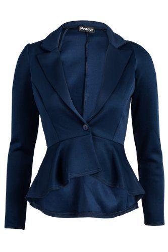55F Womens Black Long Sleeved Ladies Peplum Tailored Mullet Blazer My1stwish, http://www.amazon.com/dp/B008XHW0LY/ref=cm_sw_r_pi_dp_vlAWqb0R7063F