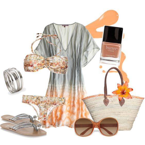 Beach Babe, created by Catherine Anderson on Polyvore