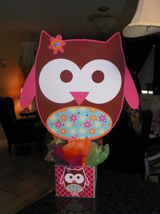 "DIY small 12"" Hippie Hippy Chick Owl Birthday Party Centerpieces Centerpiece"