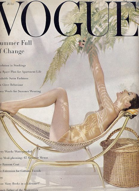 Vogue Cover 1955  www.editionlingerie.de Inspiration: