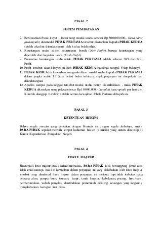 Contoh Surat Perjanjian Kerjasama Food Cart Surat Personalized Items