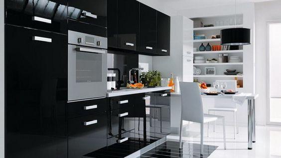 Modern Black Kitchen Designs Modern Kitchen Design Black Kitchens Kitchen Design