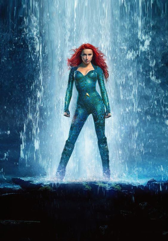 Mera Aquaman Wine Red Lace Front Wigs For Women Mermaid Cosplay