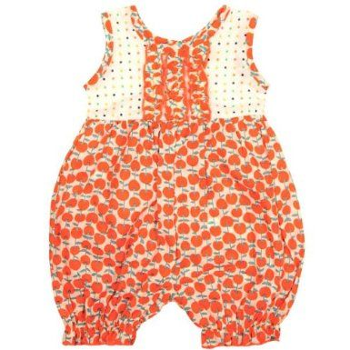 Kumquat Baby Romper in Red Cherries