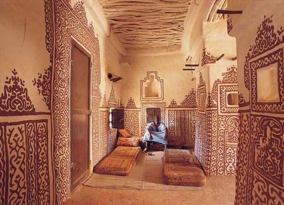Mauritanie Intérieur d'un hôtel moderne en banco