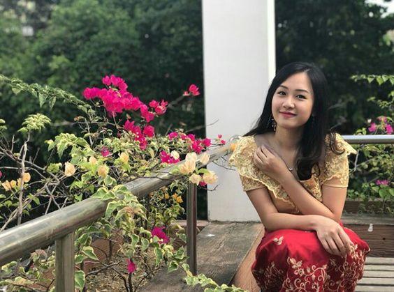 思わず「フラーデエ」と言いたくなるミャンマー美女