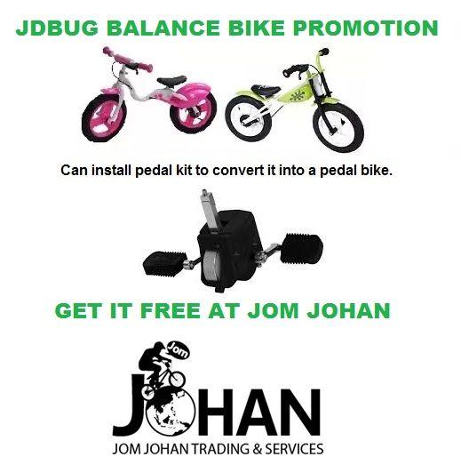 Jdbug Balance Bike Promotion Get Pedal Kit Free With Purchase Of