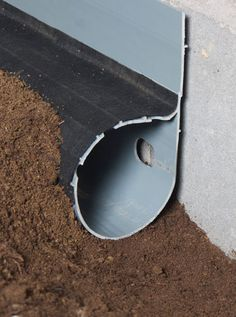 French drains to fix your foundation problems preventative for Basement curtain drain