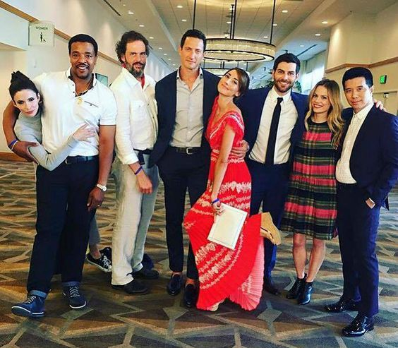 """From David Giuntoli's Facebook -""""The Fam"""" #Grimm (taken during SDCC 2016)"""