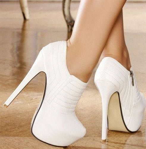 Fashion white high heels #shoes I have the black ones already ...