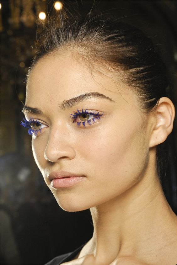 Stella McCartney, blue lashes
