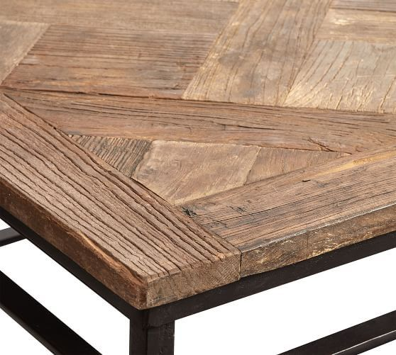 Parquet Reclaimed Wood Grand Rectangular Coffee Table Reclaimed Wood Console Table Coffee Table Pottery Barn Coffee Table