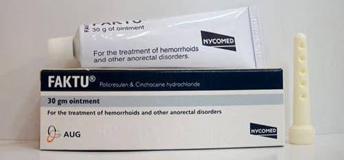 مرهم فاكتو Faktu لعلاج الشرخ الشرجي والبواسير Ointment Hemorrhoids Treatment