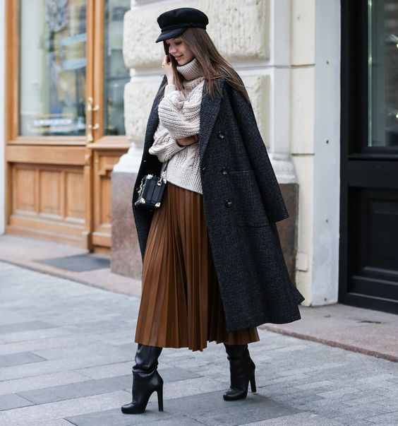 How to use #skirts and #dresses on #winter !  #winteroutfitsideas #trends2019 #layers