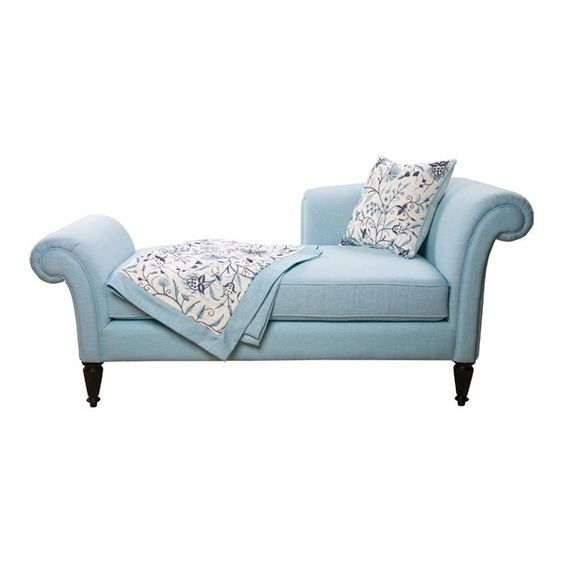 Pinterest the world s catalog of ideas for Blue chaise lounge